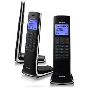 Brondi Lemure Telefono Cordless, Nero