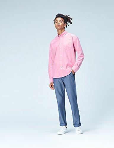 FIND Camicia in Cotone Regular Fit Uomo Rosa (Rosa)
