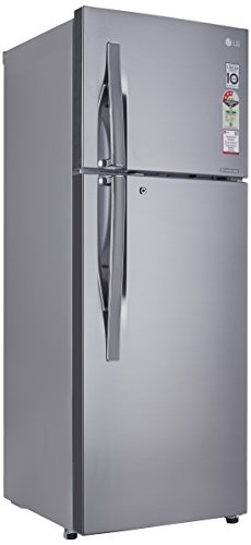 LG 284 L 3 Star Frost-Free Double-Door Refrigerator (GL-C302RPZU, Shiny Steel, Inverter Compressor)