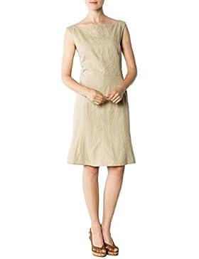 CINQUE Damen Kleid Cilban Leinen Dress Unifarben, Größe: 40, Farbe: Beige