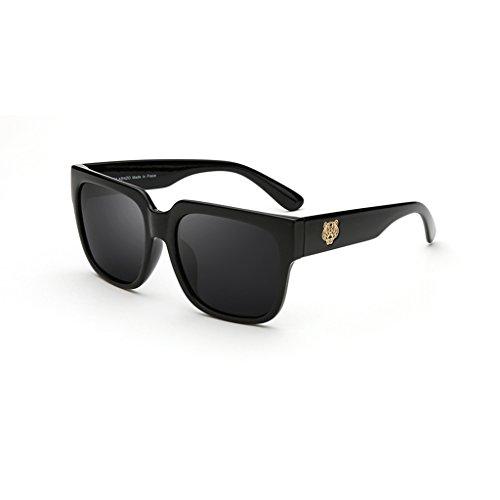 Sonnenbrillen- Brillen Sonnenbrillen Tiger Head Sonnenbrillen Big Frame Outdoor Dekoration Shopping Anti-UV Fashion Travel (Farbe : D)