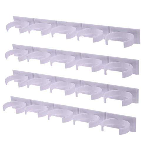 Gewürzregal für die Wandmontage, aus Kunststoff, für 5 Schränke, Türen, Gläser, Gewürzhalter Einheitsgröße 4 Pcs -