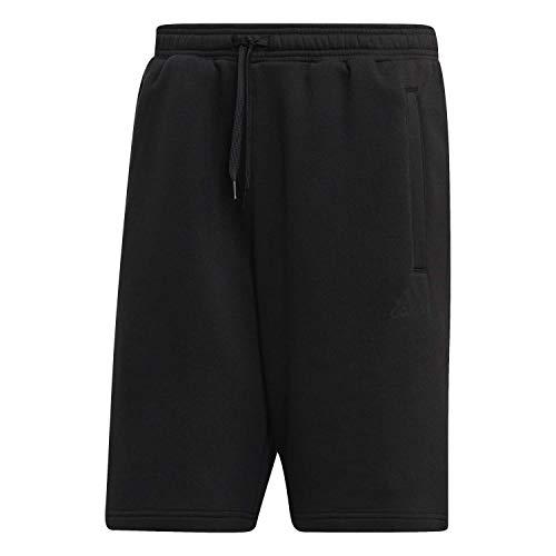 adidas Herren Tan SWT Shorts Kurze Hose, Schwarz, L