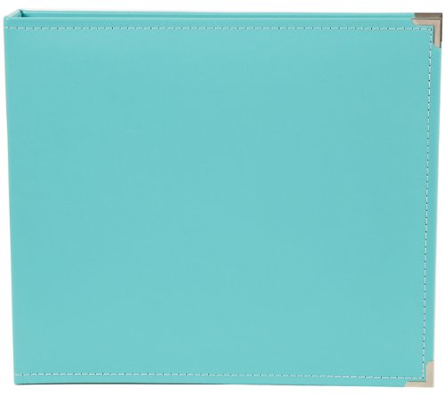 Snap Binder 12Zoll x 12Zoll, Blaugrün (Leder-binder 12x12)