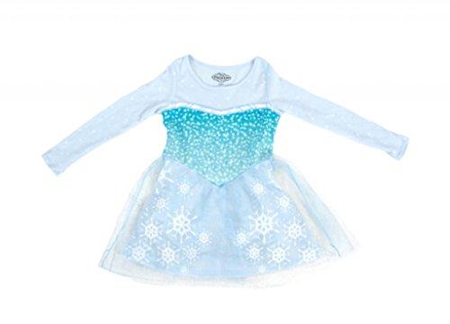 Disney Frozen I Am Elsa Mädchens Long Sleeve Glitter Blau Dress (Toddler 5T)