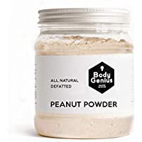 BODY GENIUS Powdered Peanut Butter. Defatted. No Added Sugar. Cacahuete en Polvo Desgrasado. SIN Azúcares añadidos. Made in Spain. 500gr.