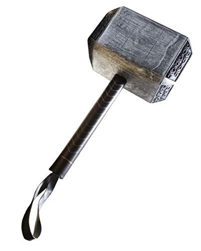 Horror-Shop Thors Hammer Mjölnir Schaumstoffwaffe für Cosplay & - Thor Kostüm Mit Hammer