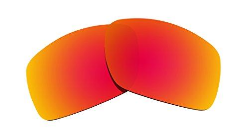 Littlebird4 polarisierte Ersatzgläser für Oakley Big Taco Sonnenbrillen, 1,5 mm, Verschiedene Optionen, Herren, Fire Red Mirror