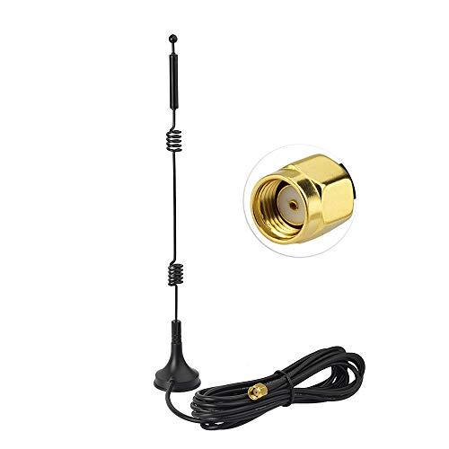 Eightwood WLAN Antenne 2.4G/5G/5.8G Antenne 12dBi Magnetfuß WLAN Antenne mit RP-SMA Verlängerung Kabel RG174 3m für WiFi Card WLAN PCI Karten Wirelesse Router Bluetooth ZigBee MEHRWEG