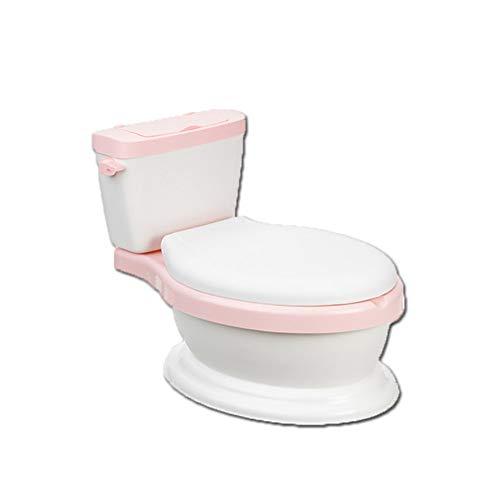 MEETGG Kinder Töpfchen von Baby Ausbildung Toilette Töpfchen Trainer Stuhl Kinder Simulation Toilette Säugling Pony Eimer Abnehmbar Anti-Rutsch Sicher und Dauerhaft,Pink