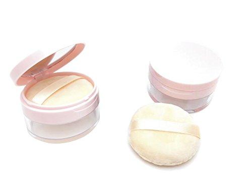20 ml 19 gram récipient vide rechargeables DIY Coque Maquillage Poudre libre avec Houppette éponge douce Miroir et Tamis Fond de teint Cosmétique Box