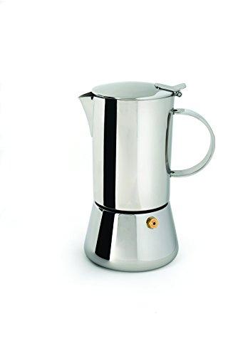 Berghoff 1106916 Kaffee-/ Espressokanne, 18/10 Edelstahl, Metall, 9,5 x 13 x 17,5 cm