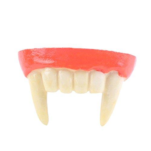 e Zähne Vampire Fangs künstliche falsche Zähne Halloween Zahnersatz Partei Cosplay Prop Dekoration (Benutzerdefinierte Halloween-kostüme Für Erwachsene)