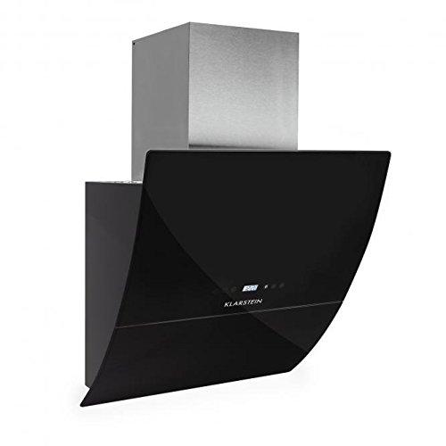 Klarstein 10013866 RGL60BL Dunstabzugshaube, Abluftleistung: 600 m³/h, 60 cm, Schwarz