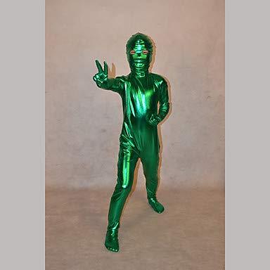 HAOBAO Zentai Anzüge Ninja Fest/Feiertage Halloween Kostüme Grün einfarbig Zentai Kostüme Kind, 10 * (Kinder Schädel Ninja Kostüm)