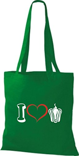 Stoffbeutel Gemüse I love Zwiebel Kelly