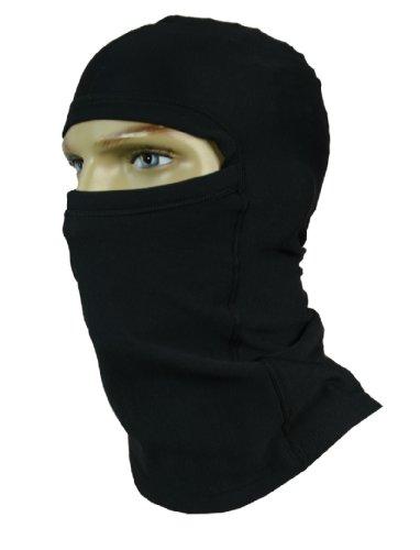 Sturmhaube / Skimaske / Kopfhaube / Gesichtsmaske - extra lang am Hals - SCHWARZ und WEISS - SILVERPLUS®