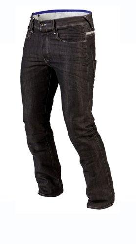 Juicy Trendz Herren Motorradrüstung Biker Motorrad Denim Hose Jeans Schwarz W36 L34 (Motorrad Hose Jeans)