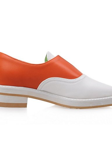 ZQ Scarpe Donna-Mocassini-Tempo libero / Ufficio e lavoro / Formale-Plateau / Comoda / Punta arrotondata-Plateau-PU (Poliuretano)-Nero / , orange-us10.5 / eu42 / uk8.5 / cn43 , orange-us10.5 / eu42 /  orange-us4-4.5 / eu34 / uk2-2.5 / cn33