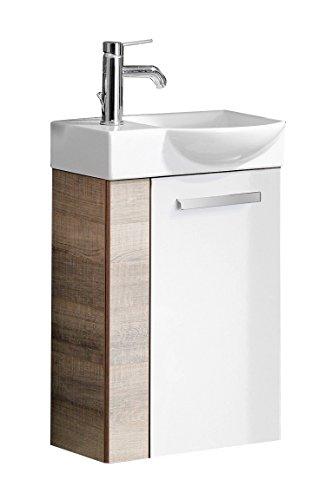 Fackelmann 08252 Gäste-WC Waschtisch, Holz, Eiche, Single, 32 x 45 x 70.5 cm