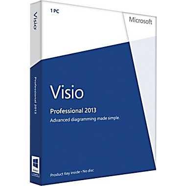 Microsoft Visio 2013 Professional Vollversion deutsch 1PC