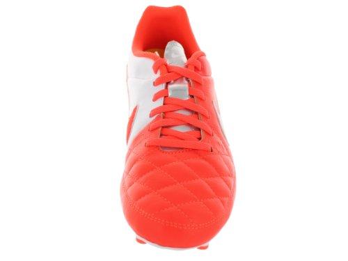Nike - Tiempo Genio Leather Fg, Scarpe Da Calcio infantile total crimson/white-metallic silver