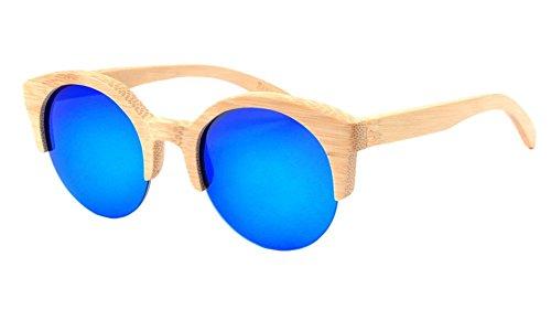 Insun Herren Sonnenbrille Gr. Einheitsgröße, Mehrfarbig - 2012-MC4 Wood Frame