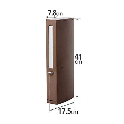 QiXian Badezimmer-Wc-Bürstenhalter-Set Toilettenbürste Wc-Toilette Einteiliges Set Wc-Lücke Reinigungsbürste Stark Robust, Braun, 17,5 * 7,8 * 41CM