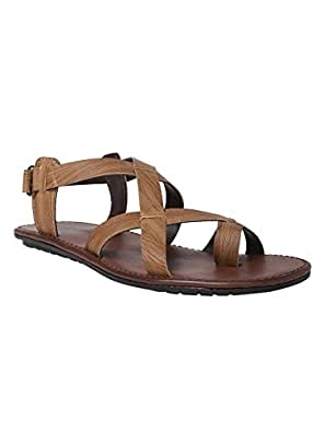2445403b7 abof Men Tan Brown Sandals  Buy Online at Low Prices in India ...
