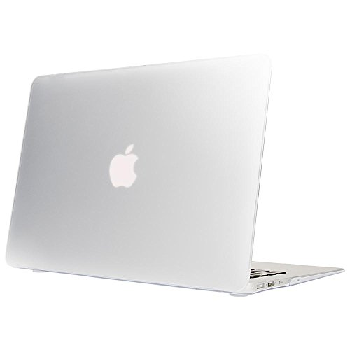 NALIA Hardcase kompatibel mit MacBook Air 13 Zoll (2015), Slim Case Hülle Cover Schutzhülle Matt, Transparent Protector Sleeve Hartschale, Front & Backcover Laptop Tasche Skin, Farbe:Transparent Transparente Front Leder