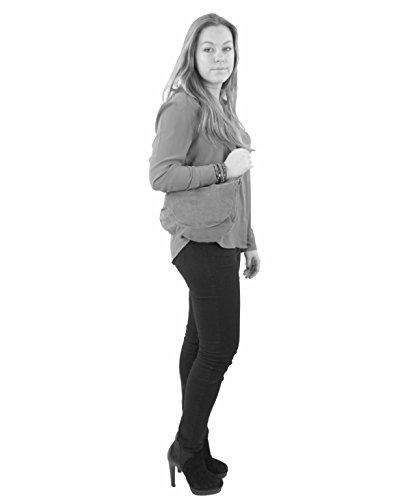 histoireDaccessoires - Lederumhängetasche für Damen - SA142921GG-Emilia Marine