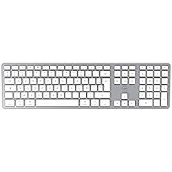 Mobility Lab Clavier français AZERTY sans fil pour Mac – blanc et argenté