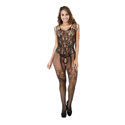 Frauen Dessous Fischnetz Body Strumpf Bodysuit Open Crotch Unterwäschen Body Strumpf Damen Dessous Catsuit Reizwäsche Fishnet Bodystocking Versuchung Nightgown Unterwäsche -
