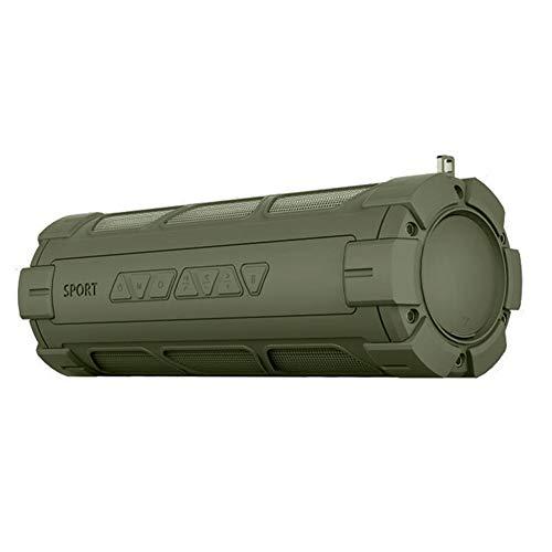 LIUMSJ Outdoor Bluetooth Lautsprecher mit Ladeleistung Bank Freisprecheinrichtung Wireless Bass Sport TF Stereo Sound Army Green Lautsprecher mit Haken (Color : Army Green)