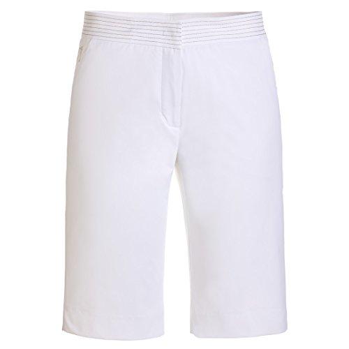 GOLFINO Damen Bermudas Sun Protection Techno Stretch in Regular Fit Weiß XS