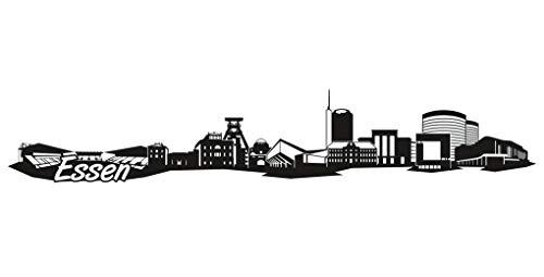 Samunshi® Essen Skyline Aufkleber Sticker Autoaufkleber City Gedruckt in 7 Größen (20x3,6cm schwarz) -
