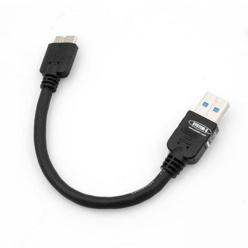 System-S Kurzes Micro USB 3.0 Kabel (USB 3.0 Micro-B) 10 cm für Samsung Galaxy Note 3 - 3 Kabel Kurz, Usb