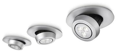 Philips Smartspot LED-Einbauspot 3-er Set Dimmbar, schwenkbarer Reflektor (180°), warmweiße Lichtfarbe / 2700K, 40° Abstrahlwinkel, geringe Einbautiefe 579974816 von Philips - Lampenhans.de