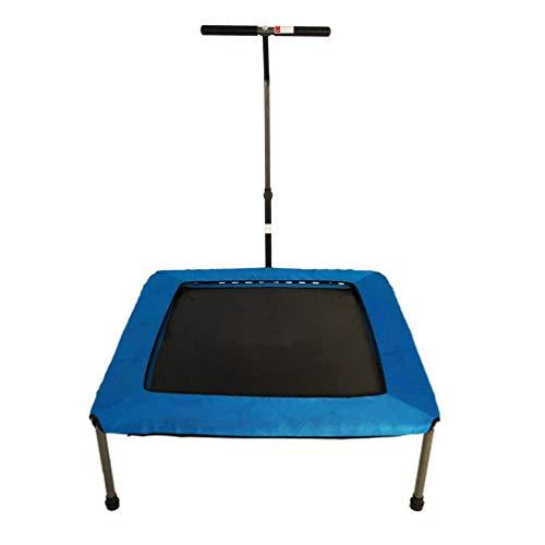 RY-Tramp Fitness Trampolin, Mit Armlehne Innen Quadrat Springen Bett Für Erwachsene Kinder Abnehmen Bauch Abnehmen (Farbe : Blau)