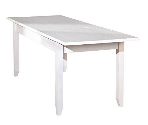 Links 20901600 Cassala Table à Manger extensible à rallonge Bois Laqué Blanc 200 x 90 x 77 cm