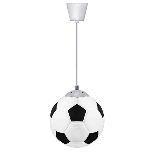 Kinderlampe Fußball Hängeleuchte Pendelleuchte 2× E27 Fassung Pendellampe Höhenverstellbar kreative Kinder Schlafzimmerlampe für Kinderzimmer Schlafzimmer Wohnzimmer Esstisch Hängelampe