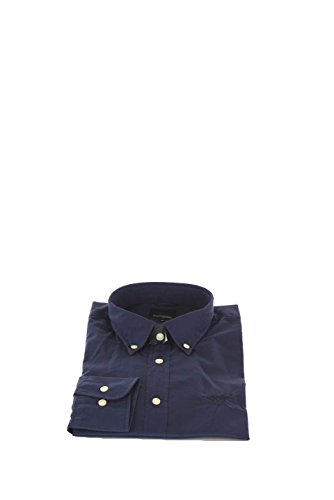 Camicia Uomo Henry Cotton's 39 Blu 50015-50-28391 Primavera Estate 2016