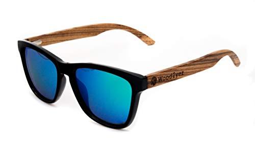 WoodEyez - DIE Holz-Sonnenbrille - unisex - UV 400 Cat 3 - Polfilter - Holzbügel - hochwertige Federscharniere - Echtholz