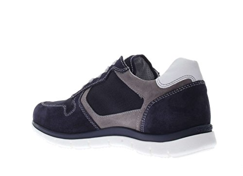 Nero Giardini Uomo Sneaker P704921U-200 Sneaker Camoscio e Tessuto Blu