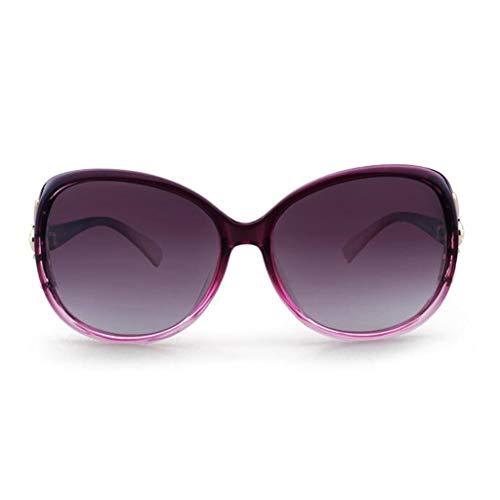 ZCmj Polarisierte Sport-Sonnenbrille Fahrbrille Sonnenbrille for Männer/Frauen quadratische Sonnenbrille klassisches Design Spiegel Sonnenbrille ideal zum Fahren Angeln Radfahren (Color : Purple)