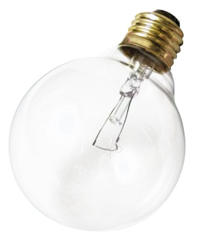 Klar Satco-glühlampe (Satco Produkte S3448120V 40G25Medium Boden klar Leuchtmittel)