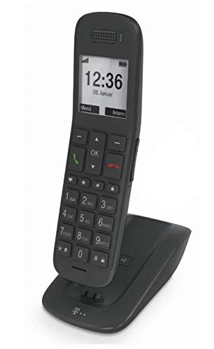 T-Mobile 40316102 TELEKOM Speedphone 31 mit Basis (Schiefer DECT Handteil für CAT-iq, a/b Port und TAE, CAT-iq), Schwarz