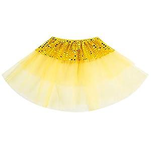 PinkLu Chicas Estrellas Lentejuelas Princesa Vestidos Moda Bebé NiñOs Princesa Estrellas Lentejuelas Fiesta Baile Ballet Faldas 2