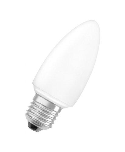 Osram 944542 Dulux Superstar Minicandle 5 W/825, entspricht 25 Watt, Sockel E27 Energiesparlampe in Kerzenlampenform, warmweiß - Kompakt-leuchtstofflampen-dimmer-schalter