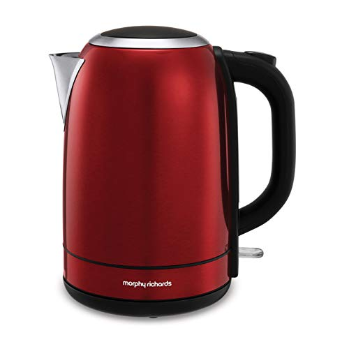 Morphy Richards 102782 Stainless Steel Jug Kettle, 3000 W, 1.7 liters, Red Best Price and Cheapest